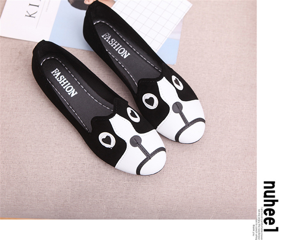 Women Flats Casual Shoes Women Solid Slip-On Loafers Comfortable Moccasins Shoes Animal Flats Colorful Female Shoes cresfimix zapatos women cute flat shoes lady spring and summer pu leather flats female casual soft comfortable slip on shoes