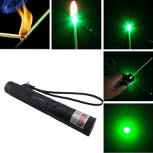 High Power Adjustable Focus Burning Green Laser Pointer Pen 301 532nm Continuous Line 500 to 10000 meters range
