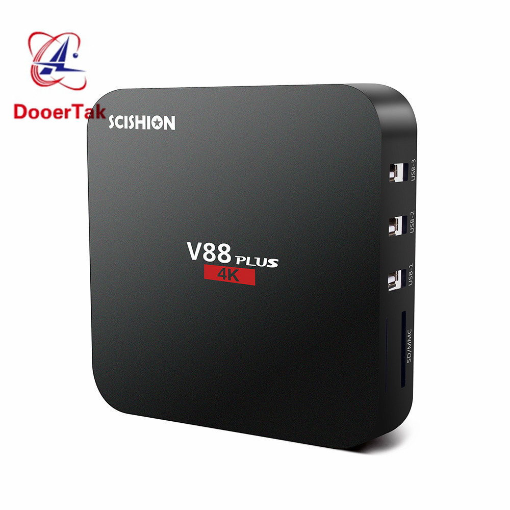 SCISHION V88plus V88 Plus Android TV Box 4K 2G 8G Android 6 0 Quad core Rockchip