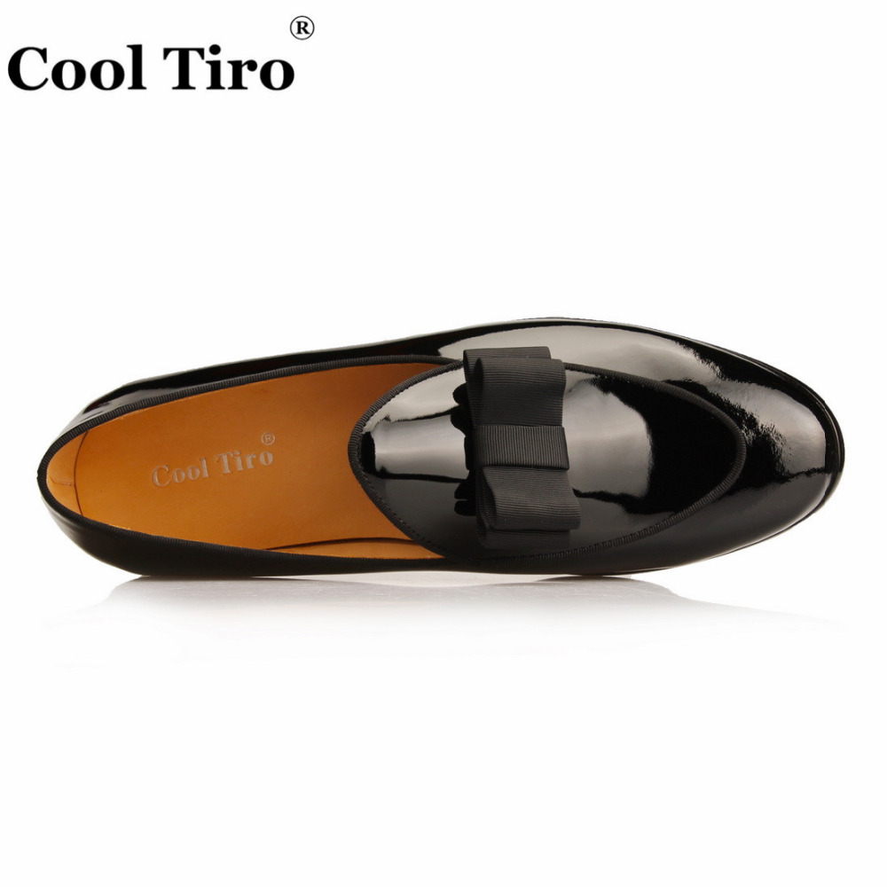 Black Patent leather Loafers Men Flat Shoes  (10)