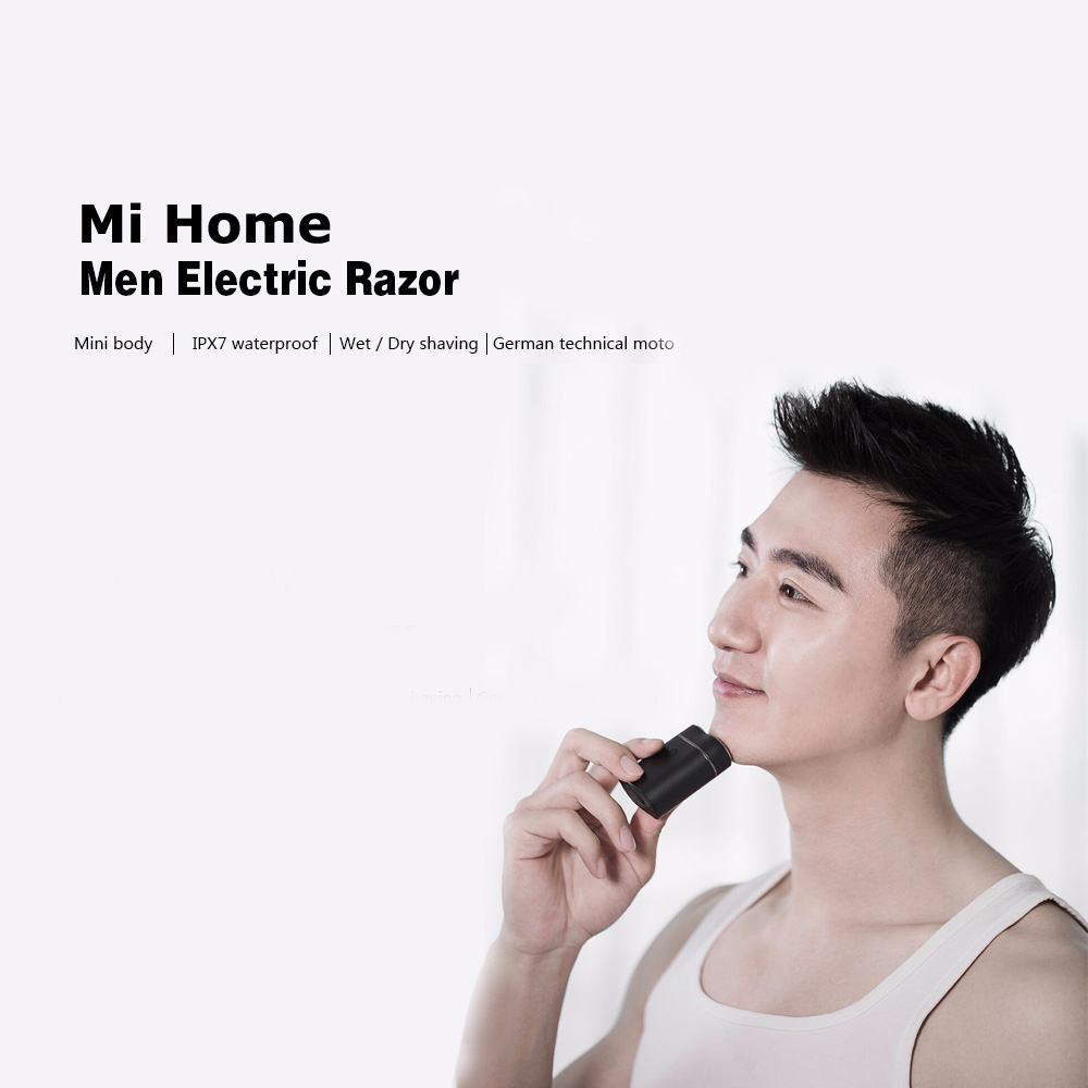 New Original Mini Home Electric Shavers For Men Waterproof Wet Dry Shaving Double-Ring Blade USB Rechargeable Razor