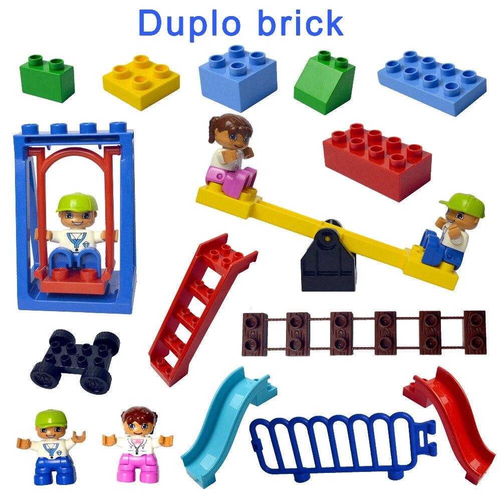 Duploe Large Building Block bricks DIY Classic Piece Big size set Dot Brick Toy accessories compatible legoe Duplo Parts D62663 стоимость