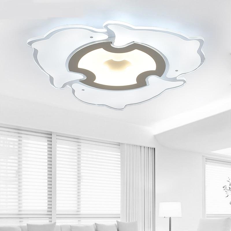 Deckenleuchten Ultradünne Led-delphin Deckenleuchte Moderne Wohnzimmer Schlafzimmer Lampe Warme Romantische Kreative Kinder Persönlichkeit Lampen Et29 Bequem Und Einfach Zu Tragen