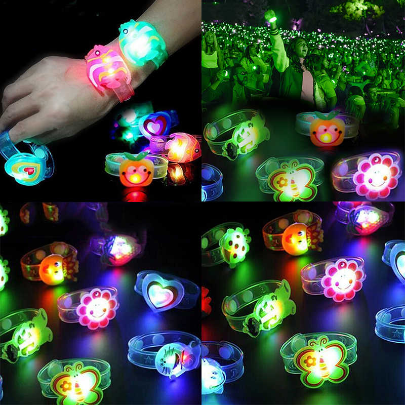 New Novelty Children Watch Strap With Luminous LED Lights Creative Bracelet Watch Flash Wrist Luminous Toys Kids Gifts