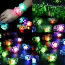 New Novelty Children Watch Strap With Luminous LED Lights Creative Bracelet Flash Wrist Toys Kids Gifts