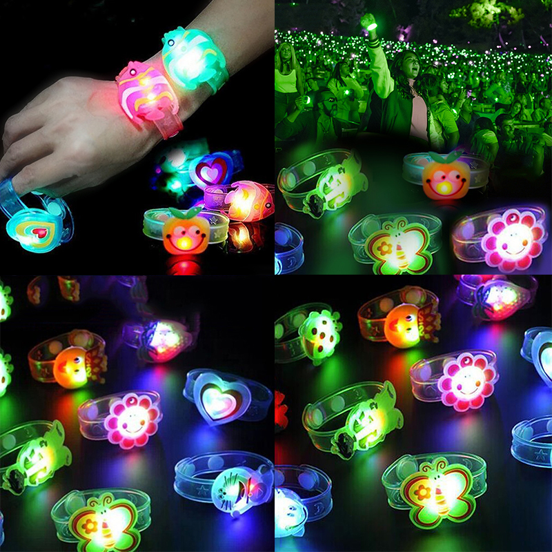 New Novelty Children <font><b>Watch</b></font> Strap With Luminous LED Lights Creative <font><b>Bracelet</b></font> <font><b>Watch</b></font> Flash Wrist Luminous Toys Kids Gifts image