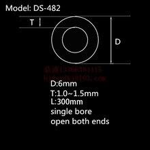 99.5% Al2O3 высокое Термальность Корундовая трубка OD6.0* ID4.0mm/Круглый один-диаметр трубка из оксида алюминия/изолировочный керамическое для Датчики термопары