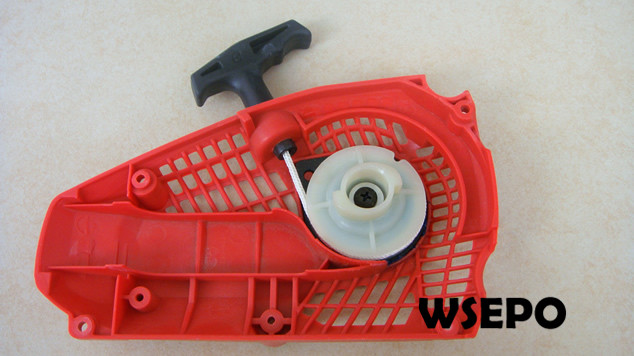 Top Quality! Pull Recoil Starter Assy for 25CC Universal Gasoline/Petrol 2 Stroke Small Chainsaw/Wood Spliter chainsaw piston assy with rings needle bearing fit partner 350 craftsman poulan sm4018 220 260 pp220 husqvarna replacement parts