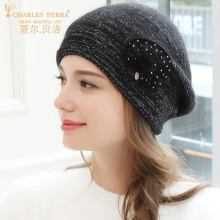 купить Charles Perra Women Hat Female Korean Version Fashion Warm Berets Wool Knitted Caps Elegant Lady Winter Hats 5227 дешево
