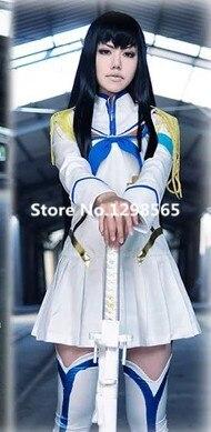 Anime Kill la Kill Cosplay Satsuki Kiryuin Cosplay White Womens Kill la Kill Cosplay Costume Full Set