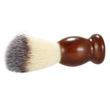 1 pc Nylon Beard Brush Dark Brown Kayu Menangani Sikat Cukur Wajah Beard Cleaning ToolsHK60