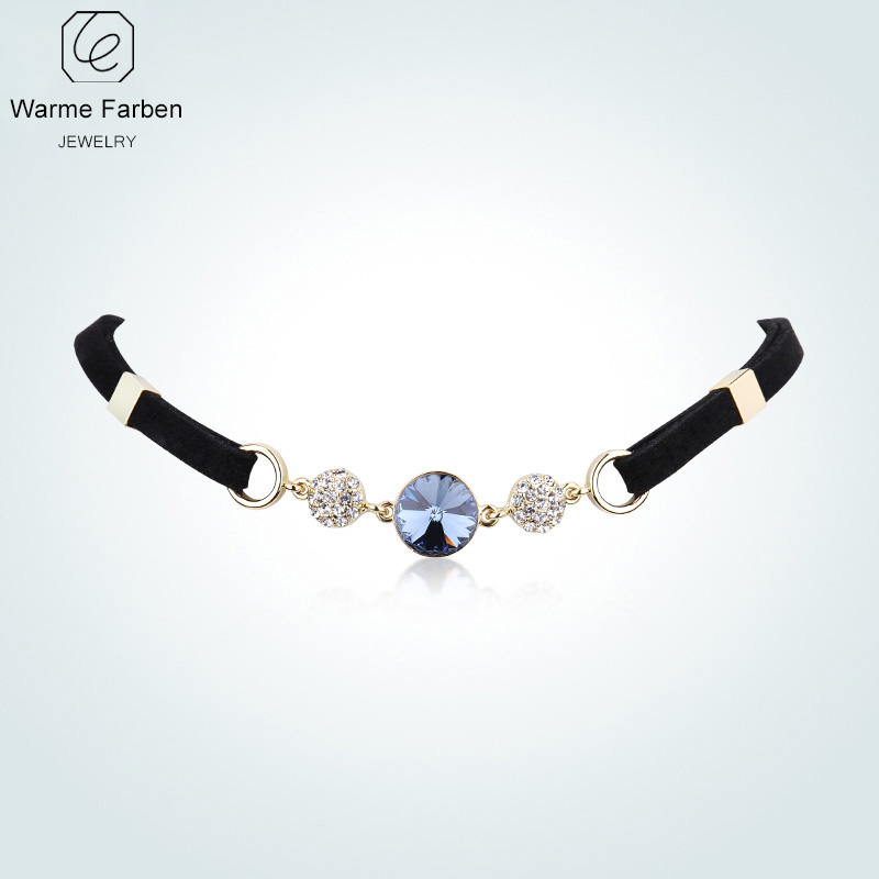 Detail Feedback Questions about WARME FARBEN For Women Collier femme Necklace  Crystal from Swarovski Bohemia Clavicle Choker Necklace Round Rope Chain ... 3ff0786e00f6
