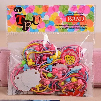 50pcs/lot Carton Mickey Flower Ball Kids Elastic Hair bands Girls Hair Rope Tie Children Rubber Hair Band Hair accessories