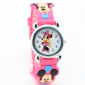 جديد 3D الكرتون جميل ميكي أطفال بنات بنين الأطفال الطلاب الكوارتز ساعة معصم شعبية الساعات ميني ماوس regarder ساعة