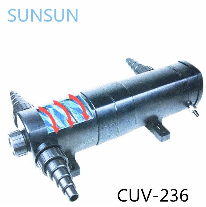 SUNSUN CUV 236 36 w luz UV agua acuario y estanque esterilizador de energía. una lámpara ultravioleta; una bacterium utilizada en la lámpara ultravioleta-in Filtros y accesorios from Hogar y Mascotas    1