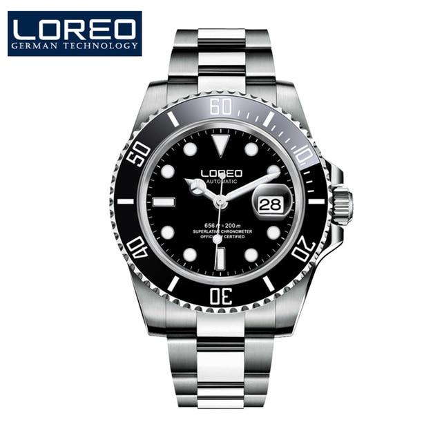Hommes mécanique montre automatique Date mode luxe marque saphir plongeur étanche horloge mâle lumineux montres