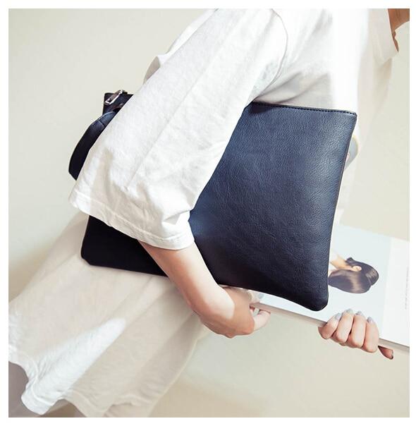Fashion solid women's clutch bag leather women envelope bag clutch evening bag female Clutches Handbag free shipping