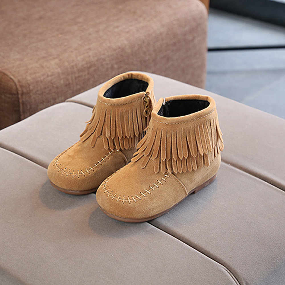baby Winter Fringe Tassel Boots casual shoes kids boys winter shoes for girls shoes for boys girl children casual sneakers #C