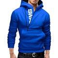 Moda Zipper dos homens letras Impressas Hoodies do Velo fatos de Treino SportSuits Homens Casacos Casacos Hoodies Camisolas Pullover 5XL