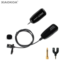 2.4G lavalier 40 50m Wireless Microphone Headset Handheld for Voice Amplifier phone for recording teaching microphones XIAOKOA