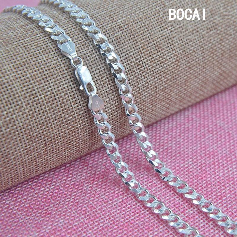 S925 pur argent collier dominateur han édition mode mâle côté chaîne joker argent collier vente directe d'usine