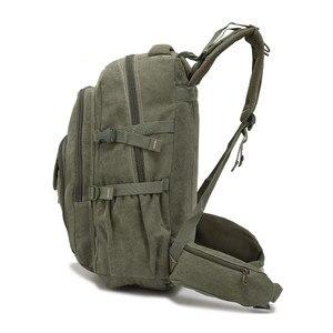 Image 4 - AERLIS projekt mężczyźni plecaki płótno College torba na Laptop odkryty piesze wycieczki nastolatek wojskowy podróży duża Cmping plecak mężczyzna 9118