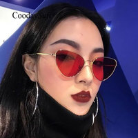 Coodaysuft Women Cat Eye Classic Brand Designer Sunglasses UV400 Sun Glasses Frame Small Size Oversized Lady