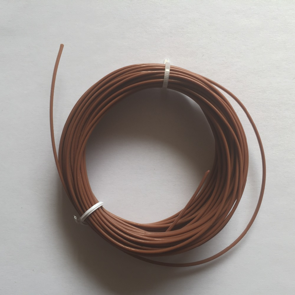 hight resolution of 2 0 5mm k type brown color teflon coated thermocouple
