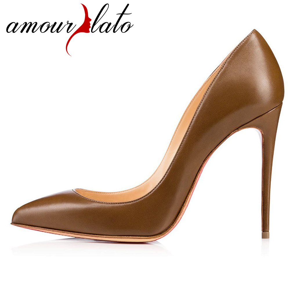 Amourplato Women's Pointed Toe High Heels Sexy Closed Toe Slip On Pumps Classic Office Business Work Party Evening Dress Shoes woman sexy black round peep toe 15 cm high heels pumps dress office party evening slip on shoes large size 4 16 shofoo design