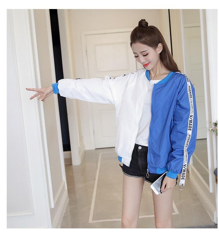Jackets Women 2018 New Women's Basic Jacket Fashion Thin Girl Windbreaker Outwear Bomber Female Baseball Women Men Coat