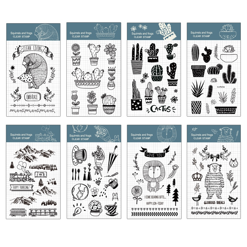 Cactus Silicone Stamp Seal Cute Animal Clear Stamp for Scrapbooking DIY Photo Album Diary Book Decorative Stamp 2018 lovely animals and ballon design transparent clear silicone stamp for diy scrapbooking photo album clear stamp cl 278