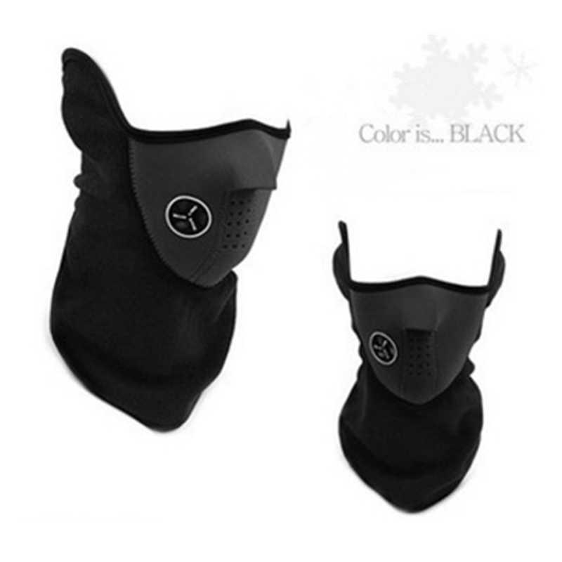 Страйкбол теплый флис велосипед половина лица маски для лица Защита капюшона Велоспорт лыжный спорт на открытом воздухе зима шеи Защита шарф теплая маска