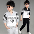 New children suit, male children fall clothing, children's v-neck printing 5-13 t two pieces/group