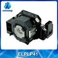 China fornecedor lâmpada do projetor compatível lâmpada ELPLP41 V13H010L41 para EMP-260 EMP-77C EMP-S5 EMP-X52 EMP-X6...