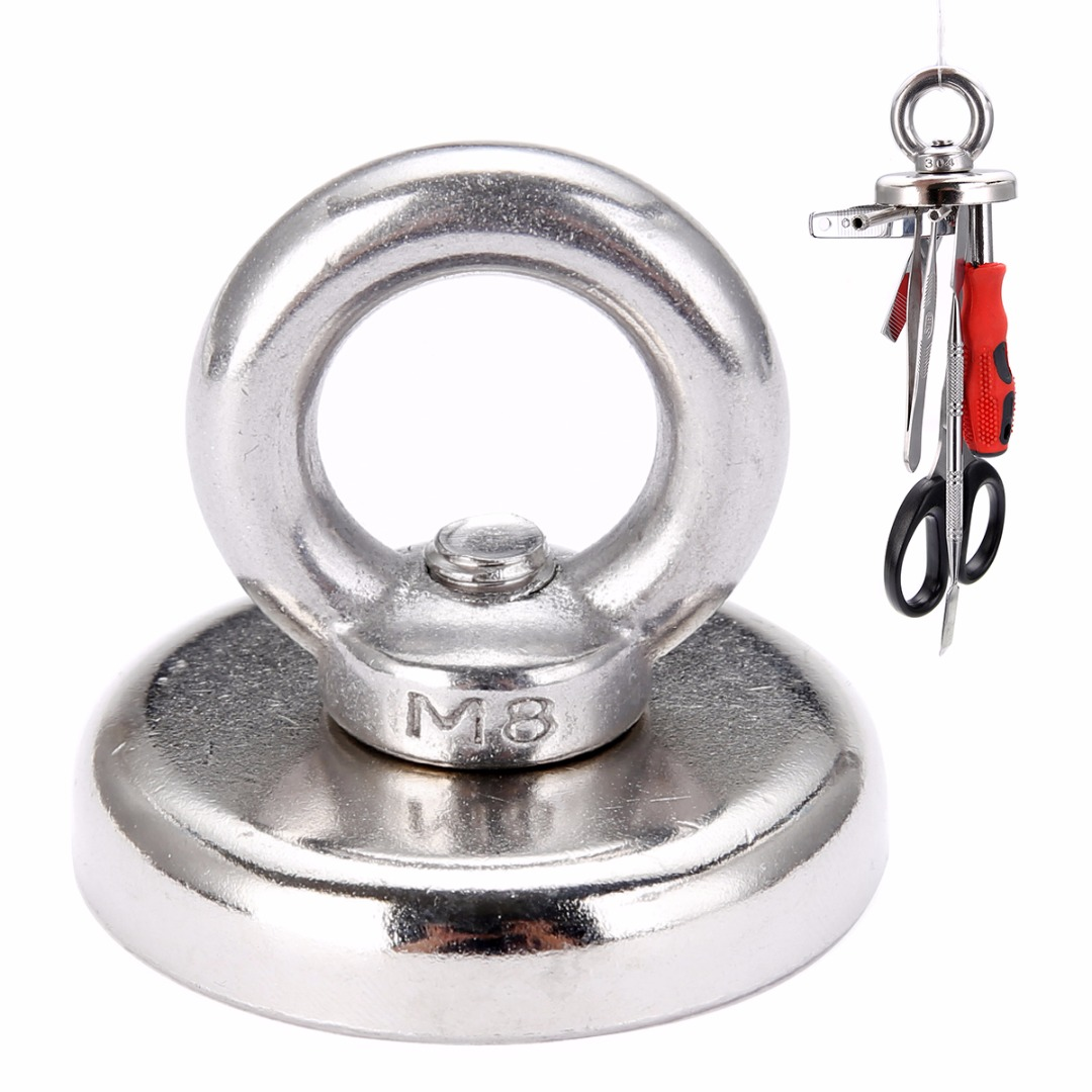 1pc 60Kg Salvage Strong Recovery Magnet Neodymium Eyebolt Circular Ring Detector Magnets 48*58mm For Keys Recovering Mayitr magnets iman neodimio 2015 promotion new aimant neodymium 2 pcs lot strong magnet 20x5mm eyebolt ring salvage magnetic