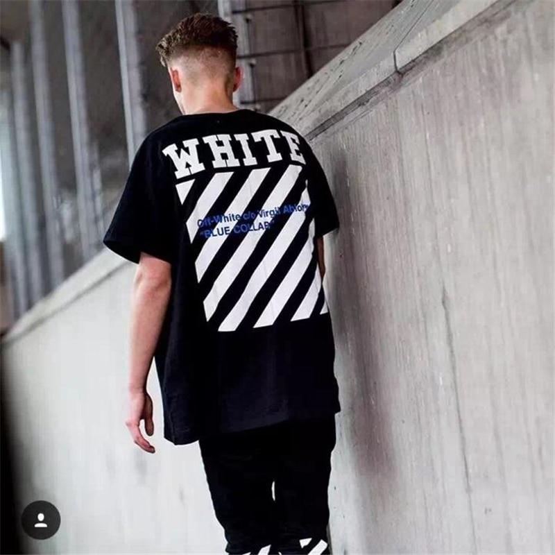 c91904f6effa OFF White C O Virgil Abloh Lightning Union Men Women Short Sleeve Tee Shirt  hip hop men cotton tshirt 100% cotton off white tee