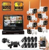 10 Inch LCD Display 8CH 960P Wireless WIFI IP Camera NVR Kit