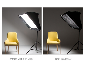 "Image 5 - Godox cuadrícula portátil 60x60cm 24 ""x 24"" foto Softbox panal rejilla para Studio Srobe Flash Light (solo rejilla)"