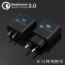 110V/240V USB Quick Charge Qualcomm QC3.0 Wall Charger 24W For Samsung Galaxy iPhone