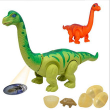 2018 Electric toy large size walking dinosaur robot With Light Sound Brachiosaurus Battery Operated kid Children Gift New(China)