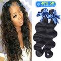 7a grade brazilian virgin hair body wave 2pcs/lot Rosa hair products brazilian virgin hair body wave light and dark brown hair