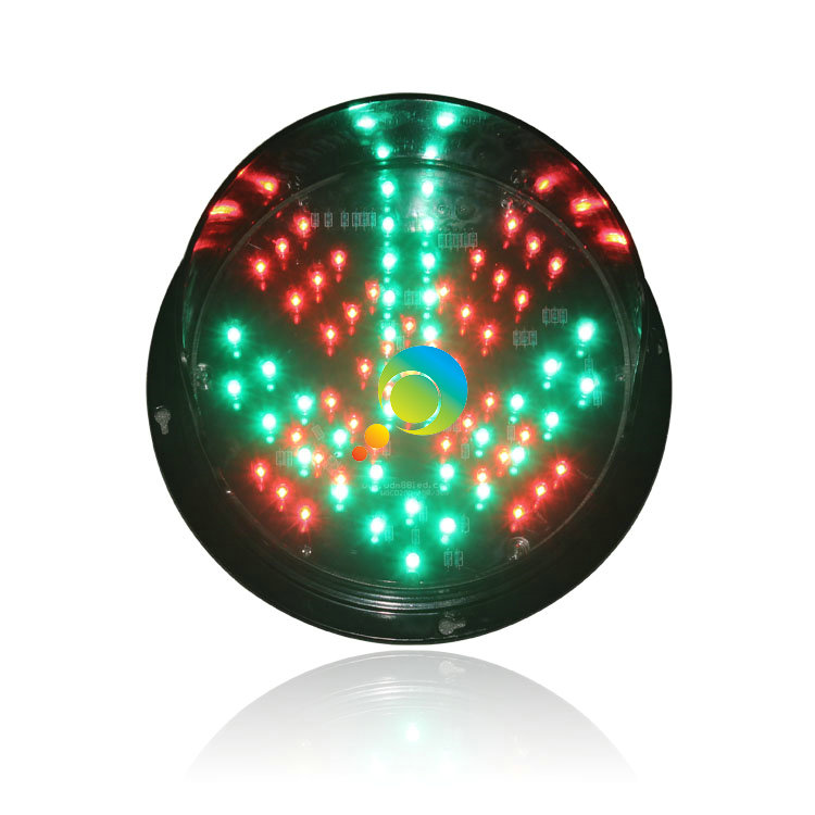 DC24V 8 inch LED traffic light module red cross green arrow LED replacement for promotion