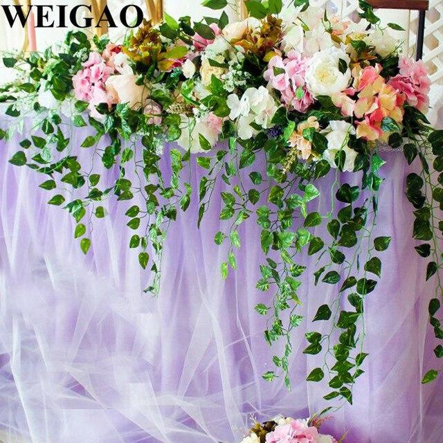 Weigao 5pcs Backdrop Leaf Wedding Decoration 90cm Artificial Ivy