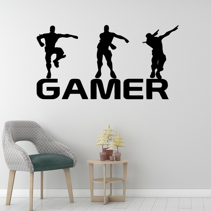 Vinyl Wall Decals Boys Game Wall Sticker PS4 Battle Royale Xbox Home Decor Popular Popular Games Gaming Nursery Decals W525 in Wall Stickers from Home Garden