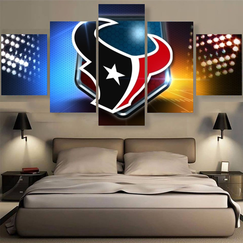 Factory Direct Sale Houston Texans Paintings Wall Art Home Decor Unframed Canvas Painting Calligraph For Living Room Bedroom