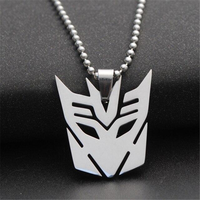 10pcslot Decepticon Charm Necklace Transformer Logo Symbol Necklace