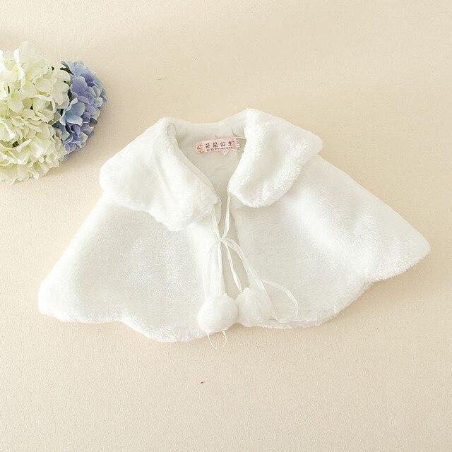 b0db8e4af Flower Girl Bridesmaid Wedding Shawl Coat White Baby Girls Faux Fur ...