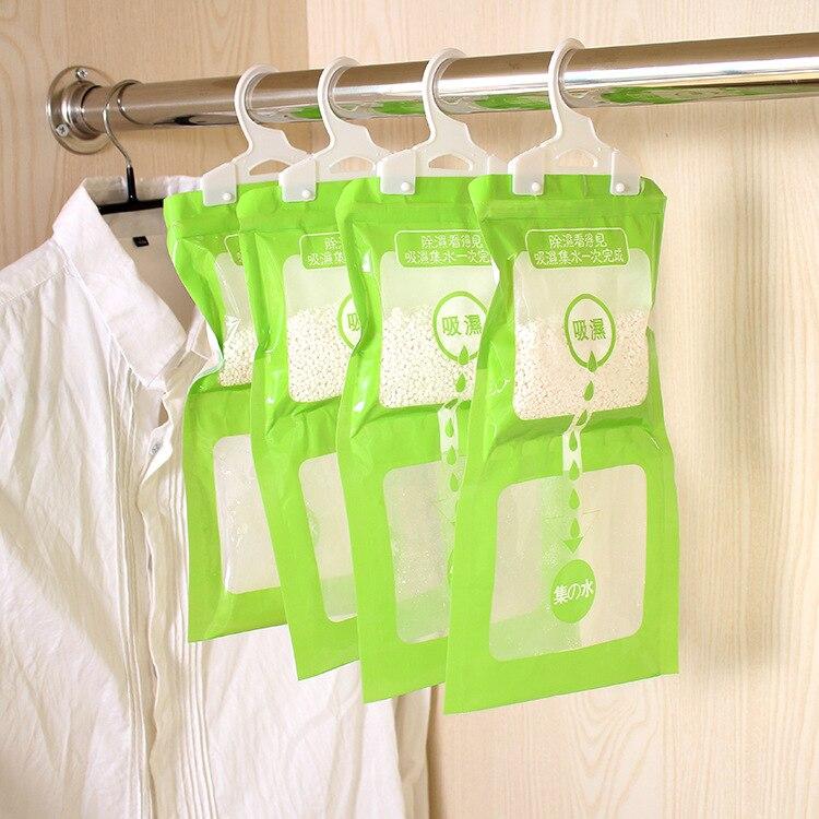 Hangable Wardrobe Absorbent Moisture-proof Dehumidifier Wardrobe Moisture Absorbing Bag Anti-mold Desiccant  2PCS/SET