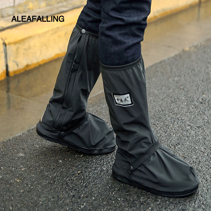 Aleafalling Cycling Shoes Cover Waterproof Windproof Rain Boots Black Reusable Shoe Covers Men Women Bike Covershoes Boot Shoes soumit waterproof rain shoe cover for motorcycle cycling bike men women reusable boot overshoes boots shoes protector covers