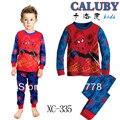 Горячий мальчик в пижаме студент с длинным рукавом майка + пант детские PJ свободного покроя 100% хлопок малыша спать шептало 6 шт./лот